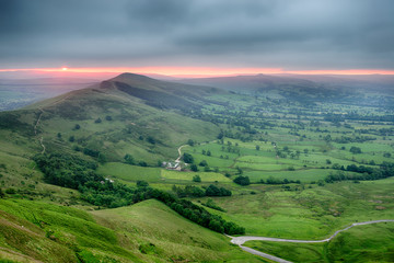 Wall Mural - Stunning Sunrise over Mam Tor
