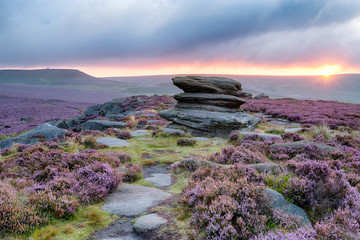 Wall Mural - Sunrise at OVer Owker Tor