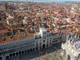 Plac św. Marka z lotu  ptaka, Wenecja.