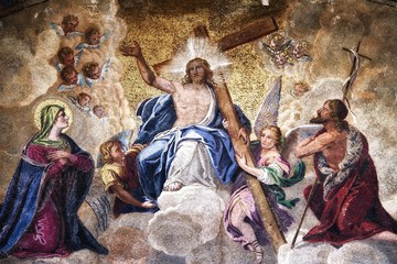 Ascension of Jesus Christ Mosaic Wall mural