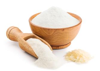 Rice flour isolated on white