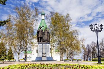 Monuments to the founders of Nizhny Novgorod, Russia