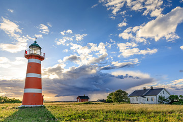Photo sur Plexiglas Phare Närsholm Lighthouse, Gotland, Sweden