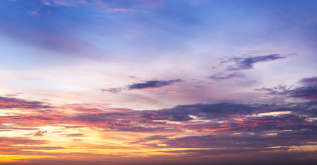 Beautiful Twilight Sky on Sunset Time Make for Background , Cover , Banner