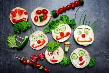 Gemüse Gesichter