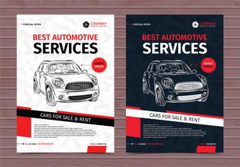 Automotive Services Flyer Layouts 8