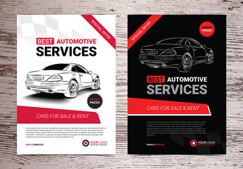 Automotive Services Flyer Layouts 9