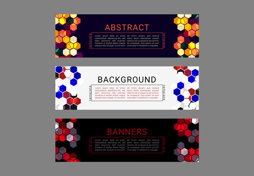 Colorful Abstract Pattern Web Banners 2