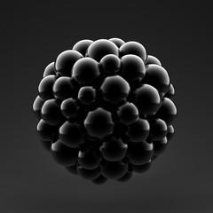 Abstract 3d shape. 3d illustration, 3d rendering.