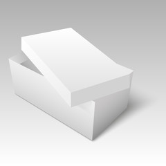 Blank of shoe box template for your design. Vector