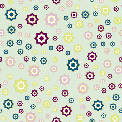 Seamless pattern with ornaments. vector