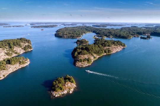 Aerial view of Finnish Archipelago, Finland