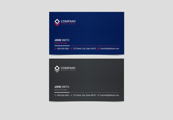 Multipurpose Business Card Layout with Geometric Elements 4