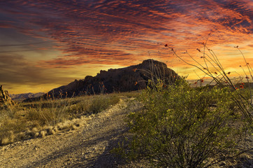 Fiery Terlingua Sunset