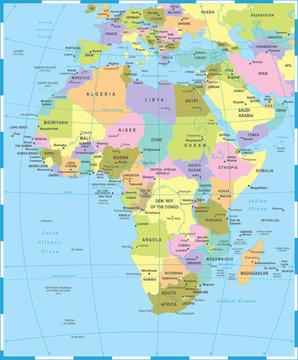 Africa Map - Vector Illustration