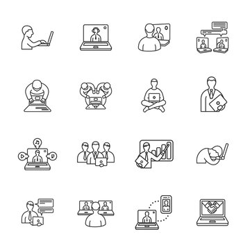 laptop and people icons