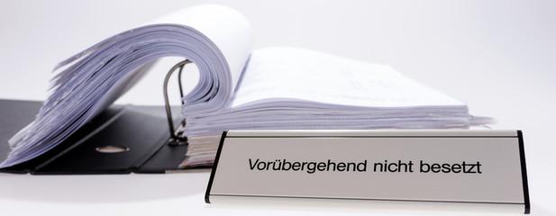 Buro Vorubergehend Nicht Besetzt Buy This Stock Photo And