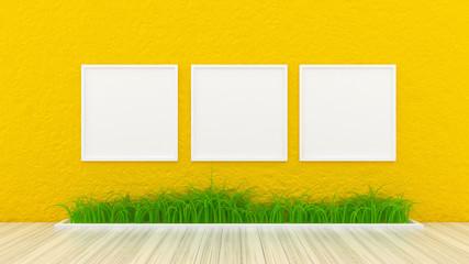 Plaster interior background. 3d illustration, 3d rendering.