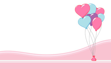 Heart Balloons - Background