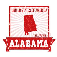 Alabama label or stamp