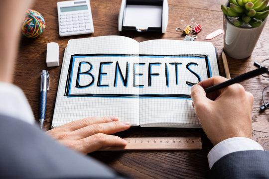 Social Man Drawing Social Security Benefits