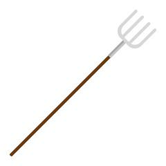 garden rake isolated icon vector illustration design