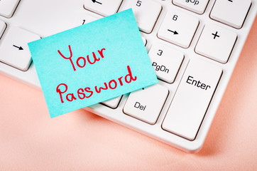Your password text note.