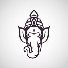 ganesha vector icon illustration