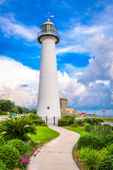Biloxi Lighthouse in Biloxi, Mississippi, USA