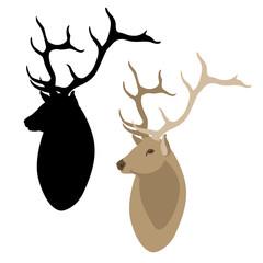deer head black silhouette