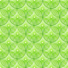 fresh Green Lime slice Seamless Pattern Background