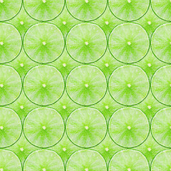 fresh Green Lime slice Seamless Pattern Background