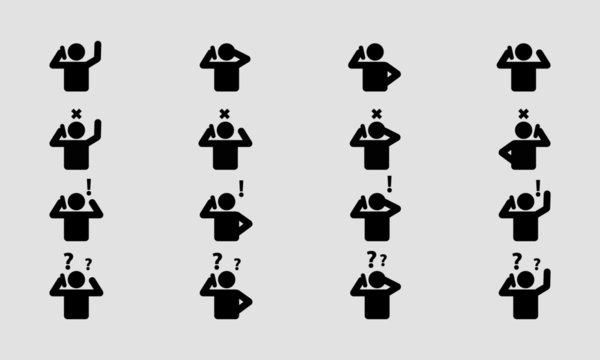 Man Talking On Phone Icon Set