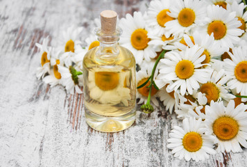 Essencial oil and camomile