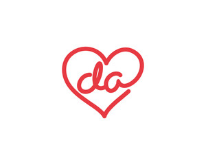 Lowercase letter da and heart 1