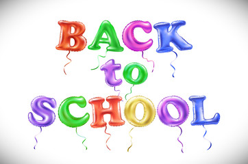 Phrase Back to school on white background. Lettering. Color art. Handwritten symbol for t-shirt design, poster, web design, print