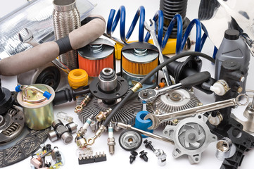lots of auto parts