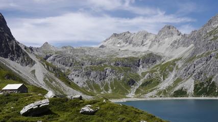 Schesaplanamassiv am Lünersee in Vorarlberg