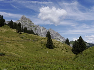 Blick auf die Zimba in Vorarlberg