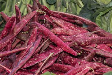 Bohnen auf dem Markt, Makro