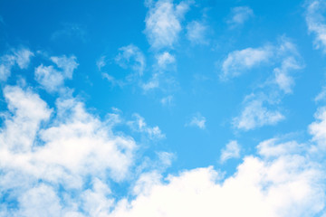 Blue sky with clouds background. Abstract texture