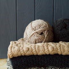 Picture of cozy knitted woolen sweaters