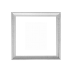 White wooden frame isolated on white