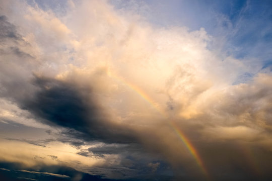 The sky after rain with rainbow, the sky after rain is always beautiful.