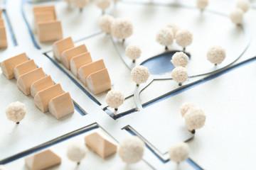 Modell einer Kleinstadt Architektur und Städtebau