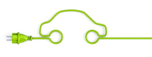 Green power plug car
