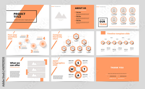 Сorporate presentation slides design creative business proposal or