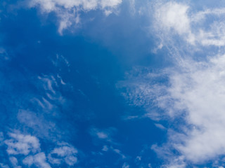 Beautiful sky and cloud, white clouds on blue sky Beautiful Sky Background, sky and sun with clouds