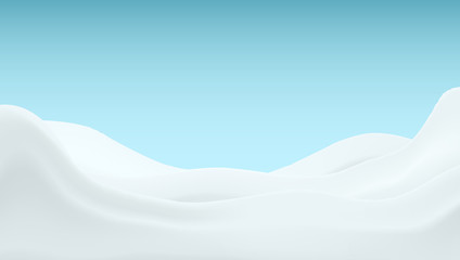 Realistic Milk Cream Background Template