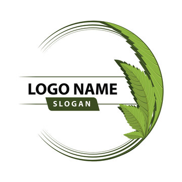 cannabis green leaf logo.